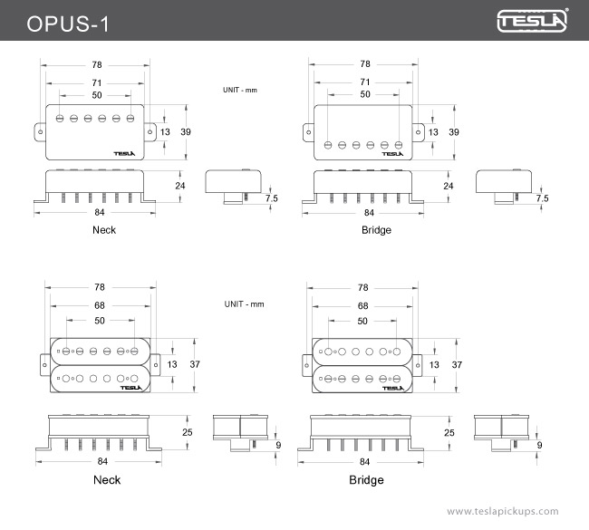 opus_1_draw opus 1 \u003e humbucker tesla pickups tesla pickups wiring diagrams at couponss.co