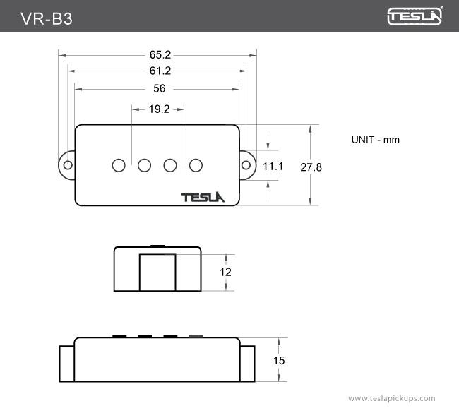 VRB3 4 String Tesla Pickups