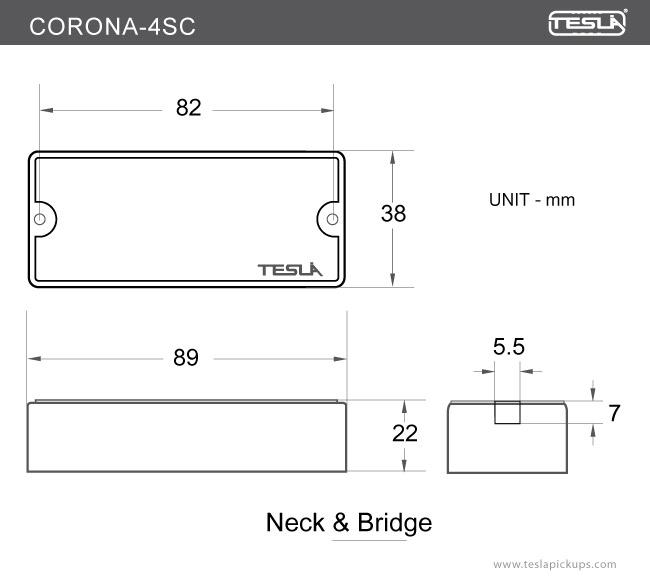 CORONA4SC 4 String Tesla Pickups