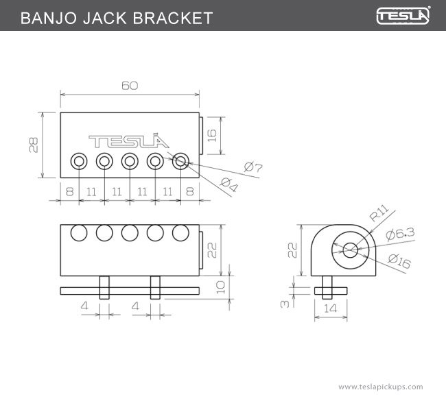 BANJO JACK BRACKET BANJO PRODUCTS Tesla Pickups